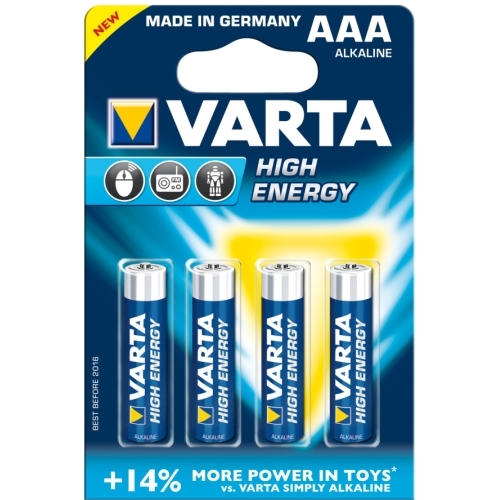 VARTA AAA HighEnergy baterie mikrotužková ; LR03/ 4903