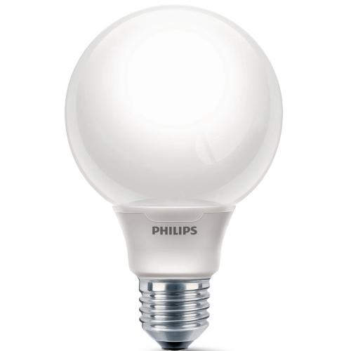 PHILIPS SOFTONE E27 12W/827 úsporná žárovka-tvar globe