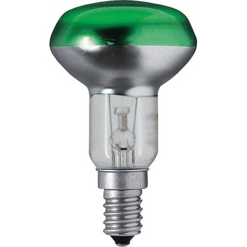 PHILIPS reflektorová žárovka 40W E14 zelená barevná Partytone