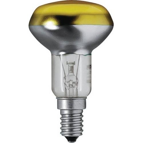 PHILIPS reflektorová žárovka 40W E14 žlutá barevná Partytone