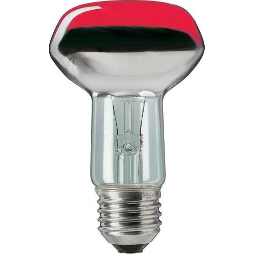 PHILIPS klasická žárovka 40W E27 červená barevná Partytone