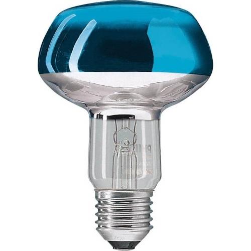 PHILIPS reflektorová žárovka 60W E27 modrá barevná Partytone