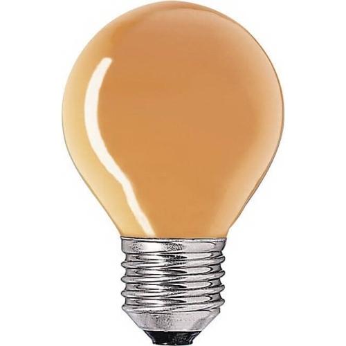 PHILIPS klasická žárovka 15W E27 oranžová barevná Partytone