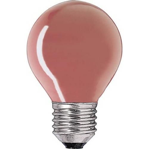 PHILIPS klasická žárovka 15W E27 červená barevná Partytone