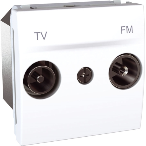 Schneider UNICA zásuv.anténní TV/R POLAR;  MGU345318 (MGU3.453.18) průchozí