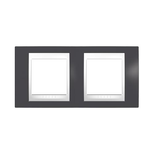 Schneider UNICAplus rám.krycí SLATE/POLAR ;  MGU6004877 (MGU6.004.877)