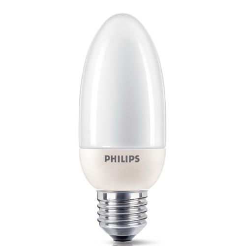 PHILIPS SOFTONE E27 12W/827 úsporná svíčková žárovka