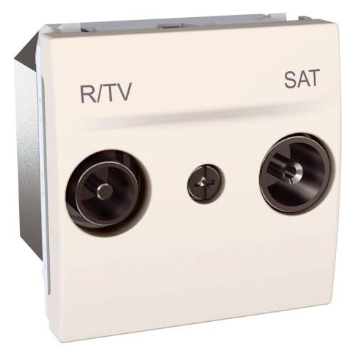 Schneider UNICA zásuv.anténní TV/R-SAT MARFIL;  MGU345625 (MGU3.456.25)