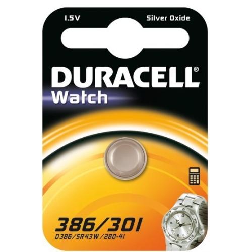 DURACELL baterie do hodinek 386/301 balení: 1ks v blistru