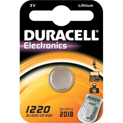 DURACELL CR1220 lithiová baterie knoflíková; 1ks v blistru