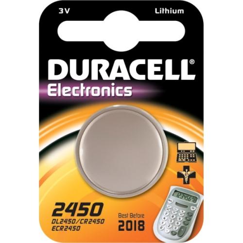 DURACELL CR2450 lithiová baterie knoflíková; 1ks v blistru
