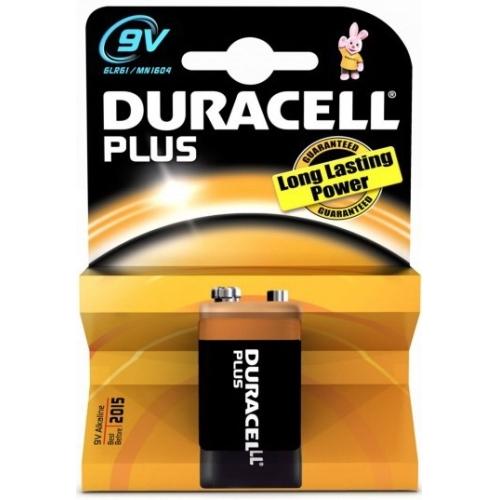 DURACELL 9V/6LR61 Plus baterie ; MN1604/6LR61