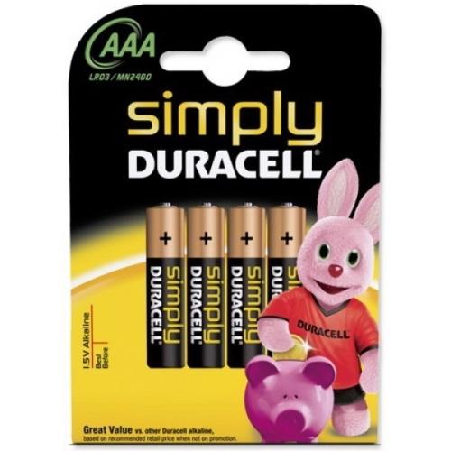 DURACELL AAA Simply baterie mikrotužková ; LR03/MN2400