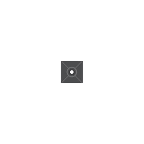 SAPISELCO příchytka  stahovacího pásku do 4mm; 19x19 samolep.černá ; 25 kusů