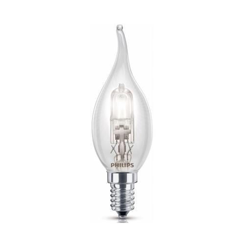PHILIPS EcoClassic E14 28W 230V B35S  halogenová svíčková žárovka plamen
