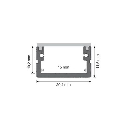 DURALAMP přisazený profil pro upevnění LED pásky IP68 1ks=2m