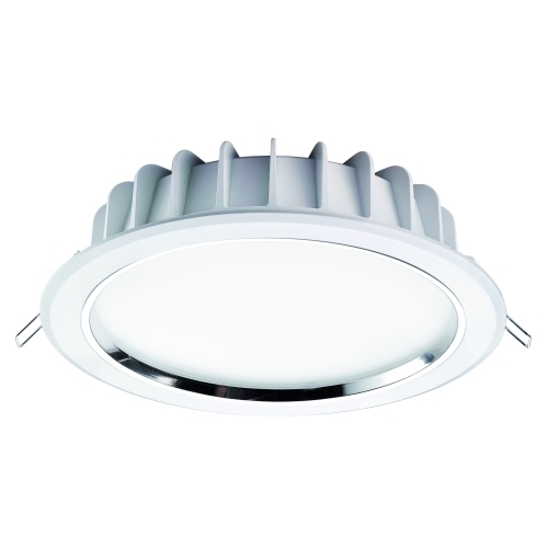 DURA LED svítidlo RTF DOWNLIGHT 8in 25W/830 bila, kryt opal