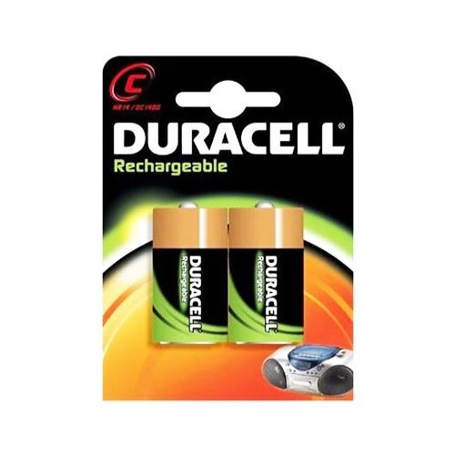 DURACELL baterie nabíjecí RECHARGABLE C ; 2200mAh