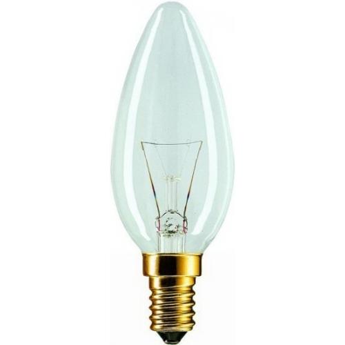 TOPLUX svíčková žárovka 40W 230V E14 , klasická čirá svíčková žárovka