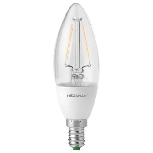 MEGAMAN E14 3.2W 2700K 220lm náhrada 25W;LED svíčková žárovka B35 LC1503.2dCS