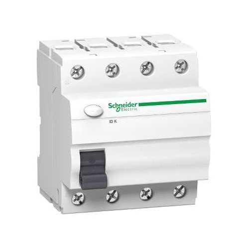 Schneider Electric proudový chránič 4P 40A 30mA AC 10kA; A9Z11440 iID