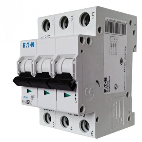 EATON jistič 3P 25A B 6kA 230/400V; PL6-B25/3 286591 jistič třípólový
