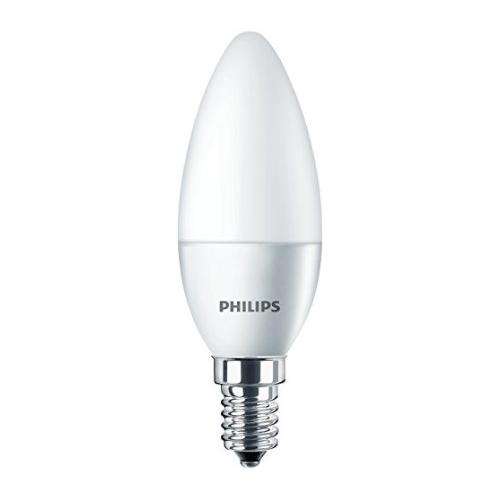 PHILIPS E14 4W 2700K 250lm náhrada 25W; LED žárovka svíčková opál