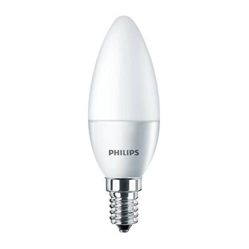 PHILIPS E14 5.5W 2700K 470lm náhrada 40W; LED žárovka svíčková opál