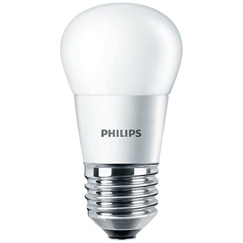 PHILIPS E27 4W 2700K 250lm náhrada 25W; LED kapková žárovka P45 opál