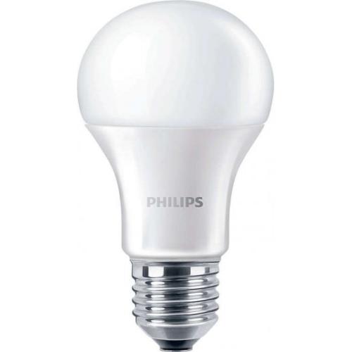PHILIPS E27 10W 4000K 1055lm náhrada 75W; LED žárovka A60 NonDim