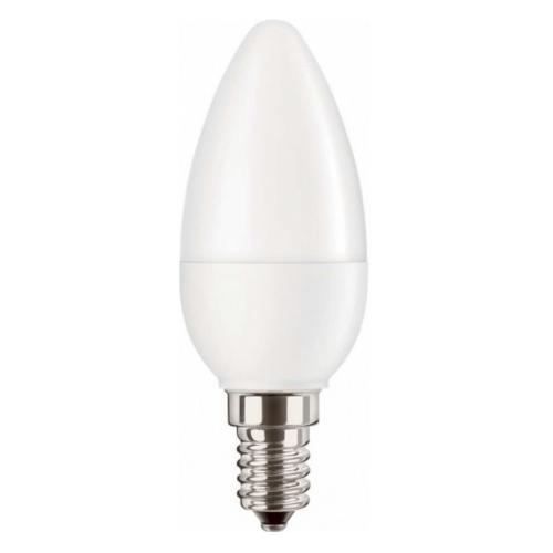 PILA E14 5.5W 2700K 470lm náhrada 40W; LED žárovka svíčková opál
