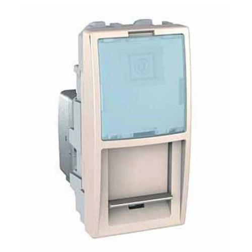 DOPRODEJ-Schneider  UNICA strojek 1modul  zasuv.datova RJ45 kat.5e UTP  MARFIL
