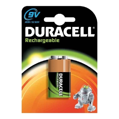 DURACELL baterie nabíjecí RECHARGABLE 9V ; 170mAh