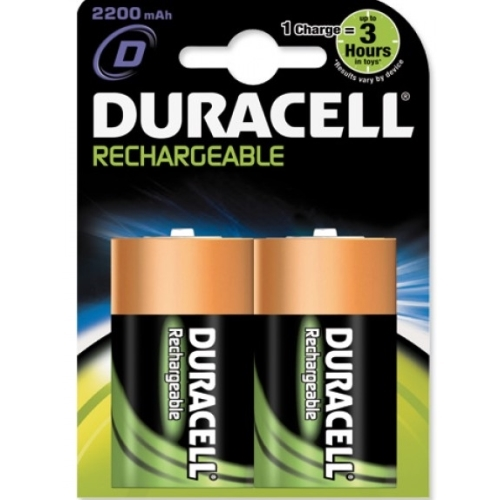DURACELL baterie nabíjecí RECHARGABLE D ; 2200mAh