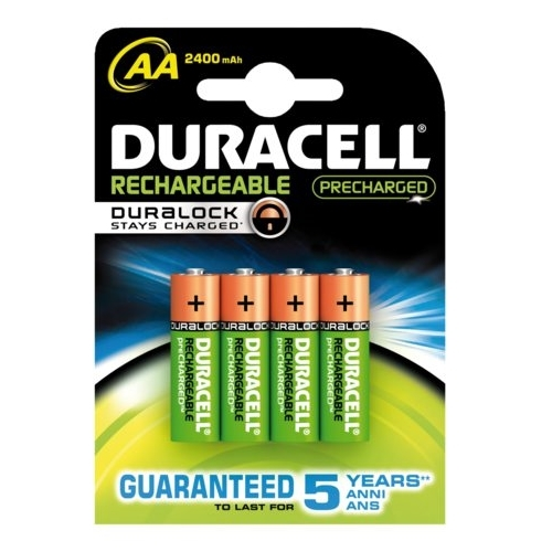 DURACELL baterie nabíjecí STAY CHARGED AA ; 2400mAh