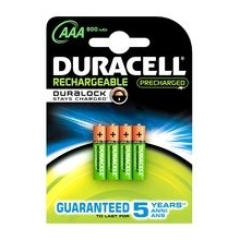 DURACELL baterie nabíjecí STAY CHARGED AAA ; 800mAh