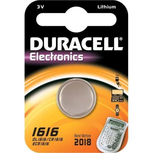DURACELL CR1616 lithiová baterie knoflíková; 1ks v blistru