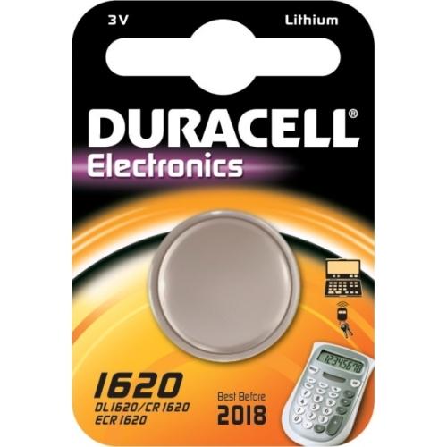 DURACELL CR1620 lithiová baterie knoflíková; 1ks v blistru