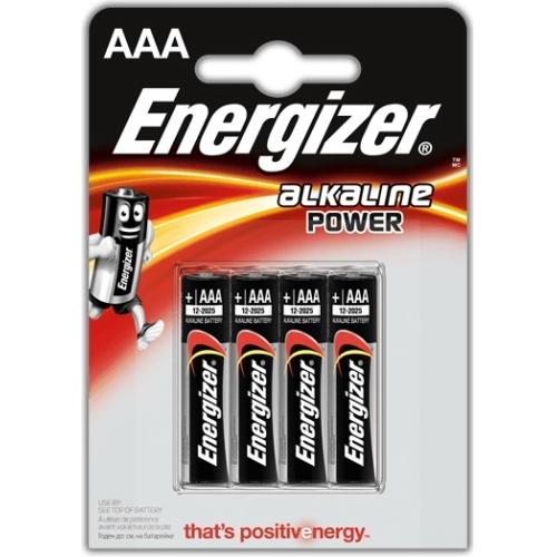 ENERGIZER baterie alkalická ALKALINE POWER  LR03/AAA  BL4  4kusy