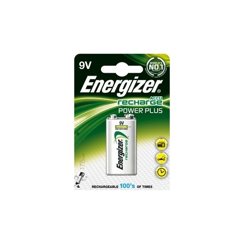 ENERGIZER baterie nabíjecí POWER PLUS 9V ; 175mAh