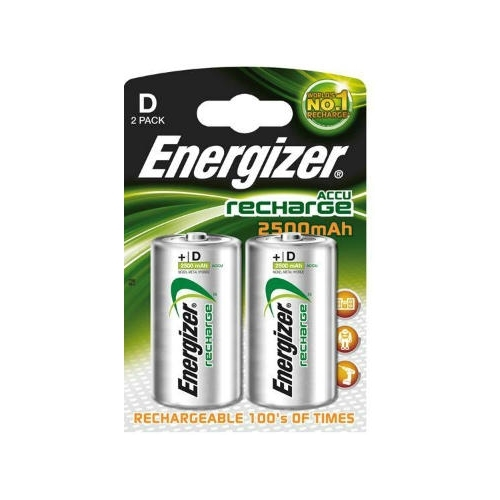 ENERGIZER baterie nabíjecí POWER PLUS D ; 2500mAh