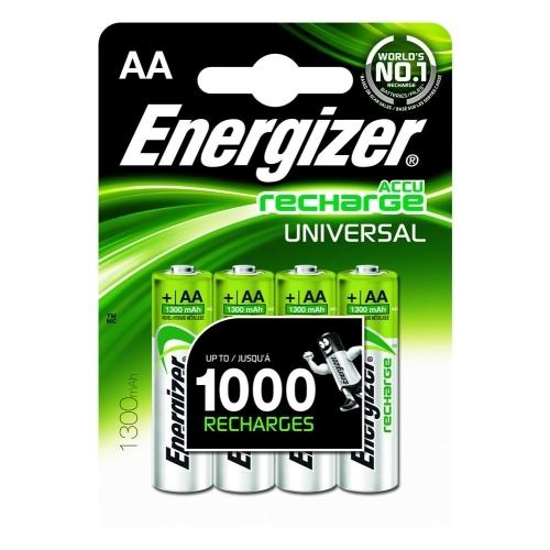 ENERGIZER baterie nabíjecí UNIVERSAL AA tužková ; 1300mAh