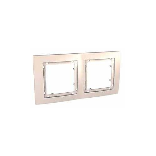 Krycí rámeček bez dekorativního rámečku dvojnásobný, Marfil