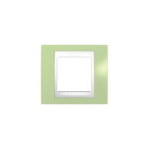 Krycí rámeček Plus jednonásobný, manzana/polar, Schneider
