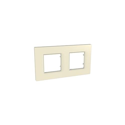 Krycí rámeček Quadro dvojnásobný, stone, Schneider
