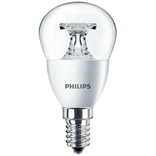 PHILIPS E14 4W 2700K 250lm náhrada 25W; LED kapková žárovka P45 čirá
