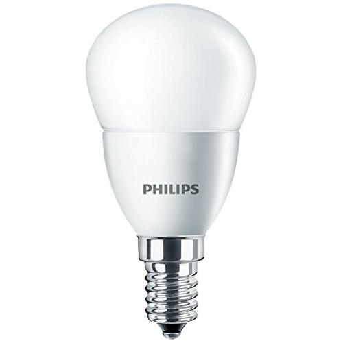 PHILIPS E14 4W 2700K 250lm náhrada 25W; LED kapková žárovka P45 opál