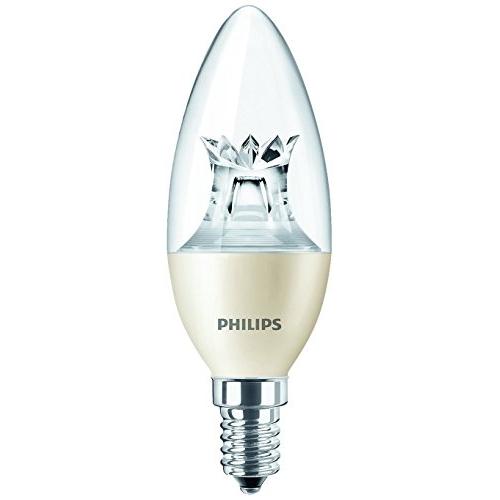 PHILIPS E14 4W 2700K 250lm náhrada 25W; LED žárovka svíčková čirá Dim