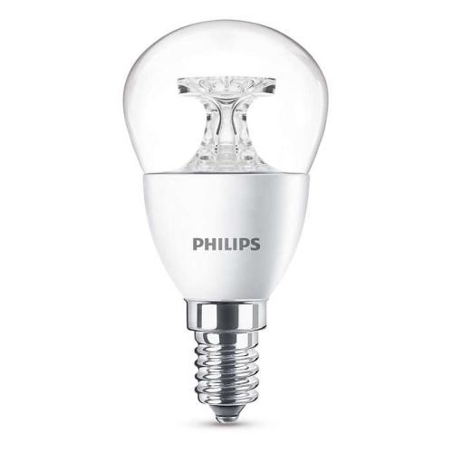 PHILIPS E14 5.5W 2700K 470lm náhrada 40W; LED kapková žárovka P45 NonDim