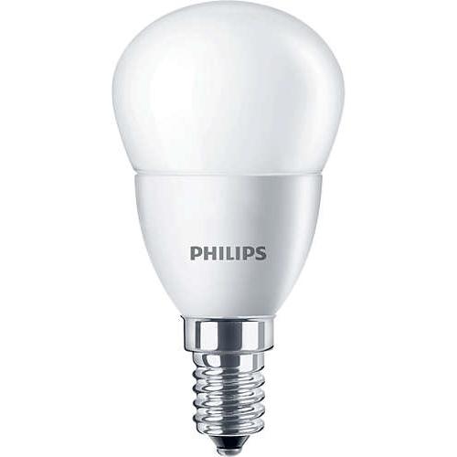 PHILIPS E14 5.5W 2700K 470lm náhrada 40W; LED kapková žárovka P45 opal